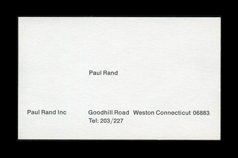 Paul Rand business card