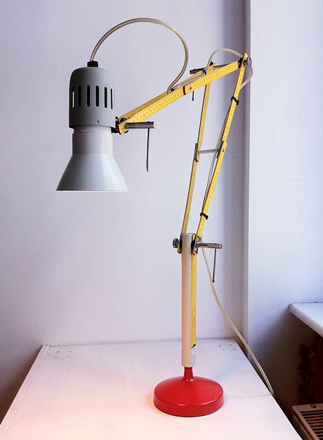 Tools table lamp