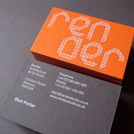 Render business card