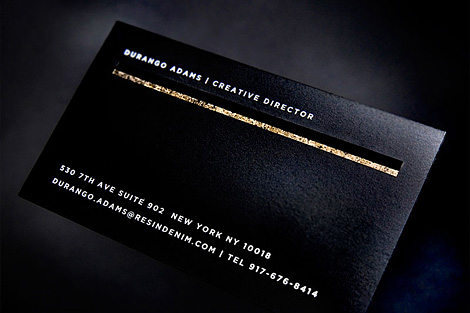 RESIN business card