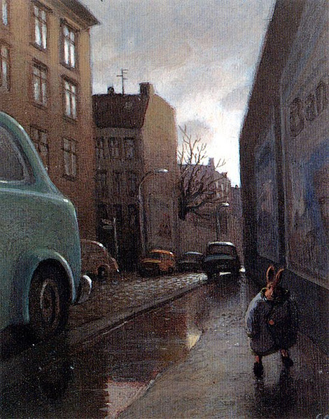 Michael Sowa: Rabbit on a Rainy Street