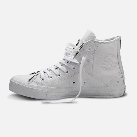 Schott x Converse Chuck Taylor All Star White Leather Jacket