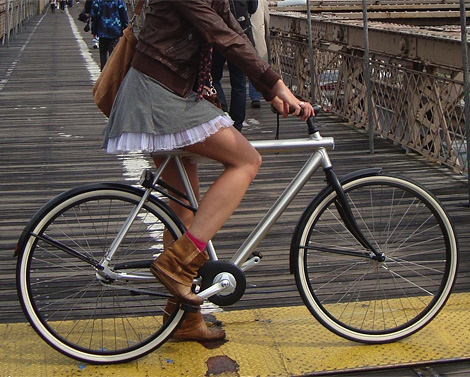 New York bans Dutch girls on bicycles wearing skirts