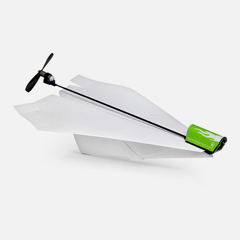 Electric paper plane conversion kit
