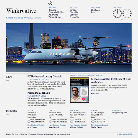 Winkreative website