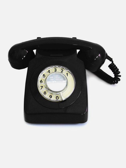 GPO Engineering classic black phone