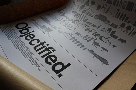 Objectified letterpress poster