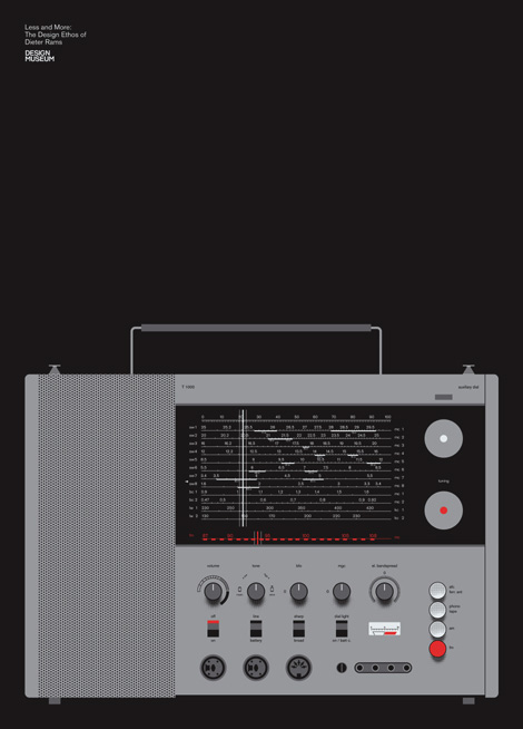 Dieter Rams T1000 Screen Print