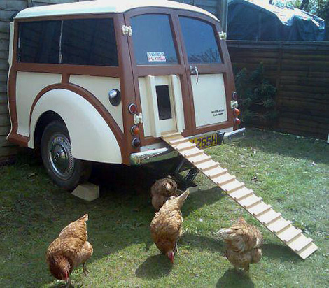 Morris Minor chicken coop