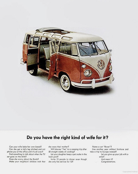 VW camper ad