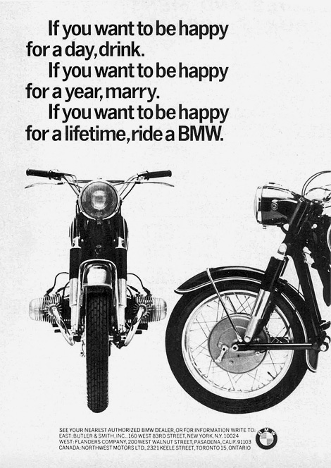 BMW: If you want to be happy...
