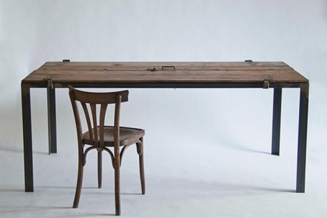 Desk Made From Old Door