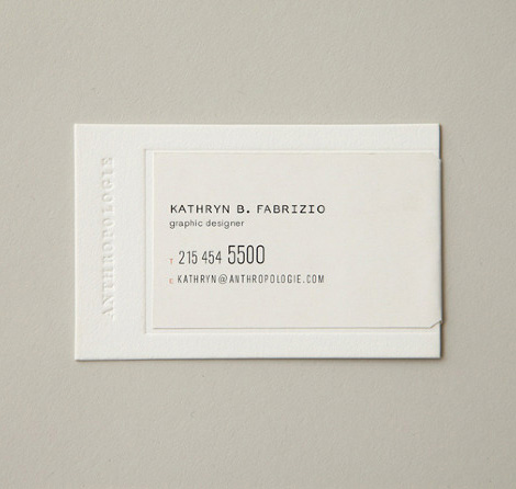 Anthropologie business card