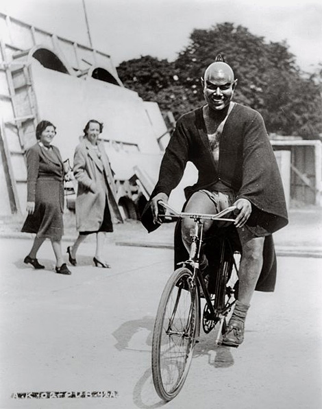 Rex Ingram rides a bike