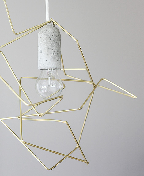 DIY geometric lamp