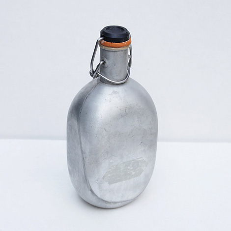 Vintage aluminium water bottle