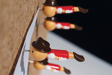 Real Boy pushpins