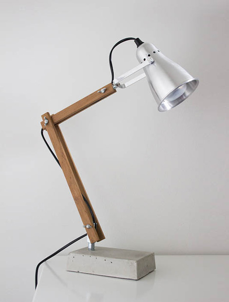 DIY desk lamp