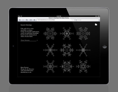 Ideas Factory snowflake app
