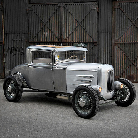 Bare metal hot rod