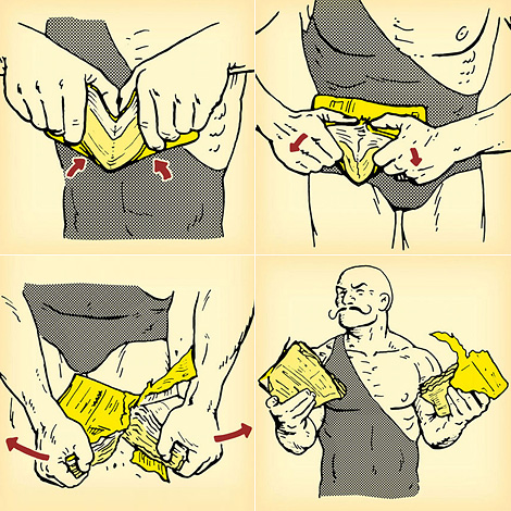 How to tear a phone book in half with your bare hands