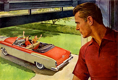 Sinister husbands in 50's advertising