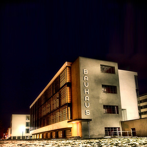 Bauhaus at night