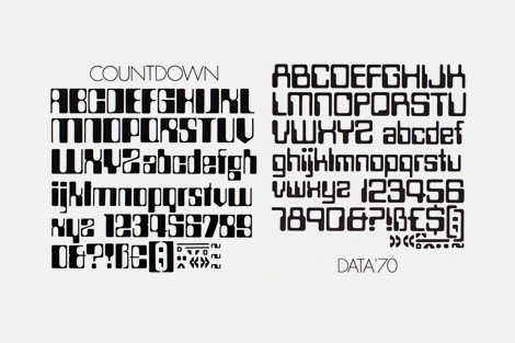 Space Age Letraset: Data 70