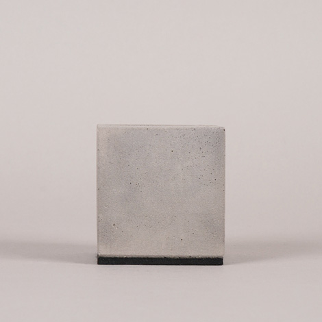 Concrete block business card holder
