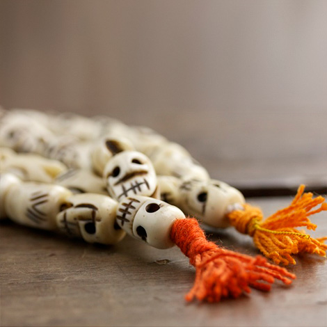 Kali Skull Bone Mala