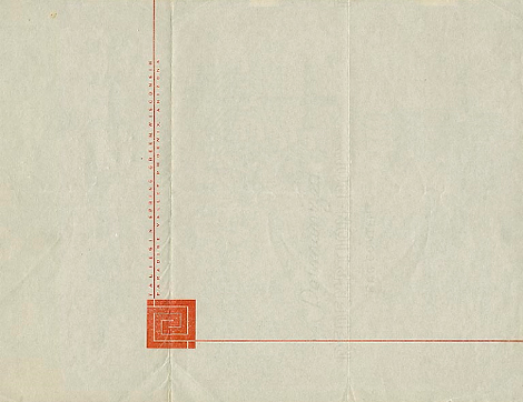 Frank Lloyd Wright stationery