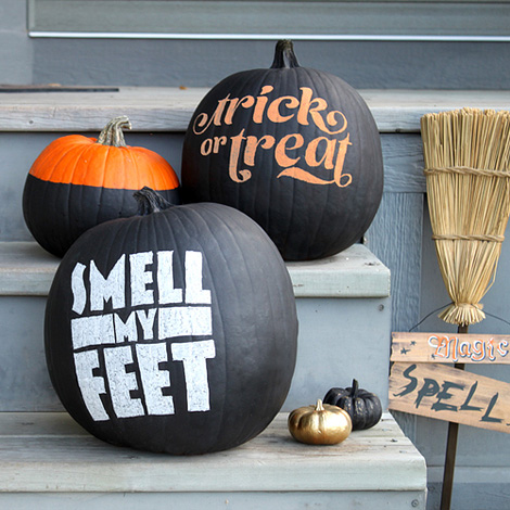 No-carve typographic pumpkins