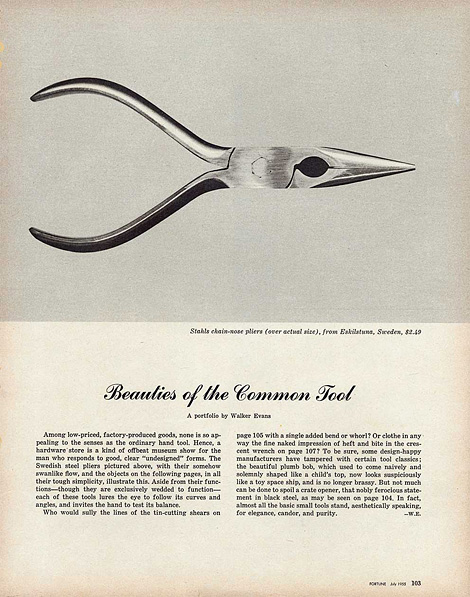 Beauties of the Common Tool