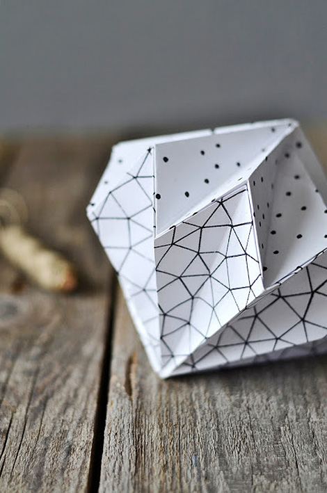 DIY origami diamond mobile