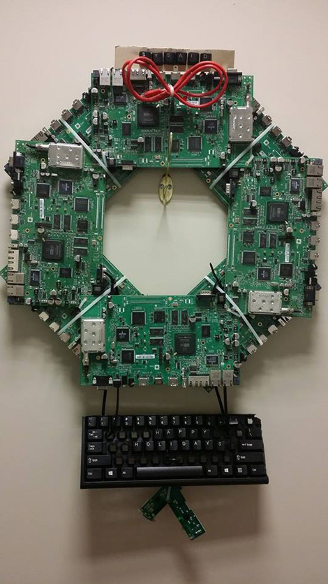 Sysadmin Holiday Wreath