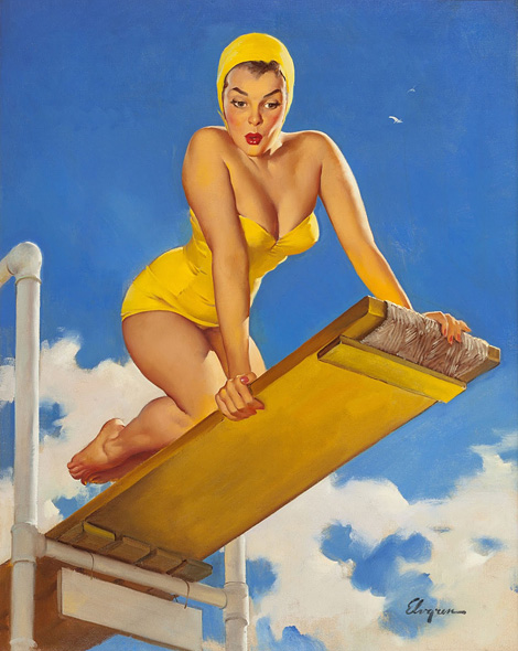 Gil Elvgren: High and Shy