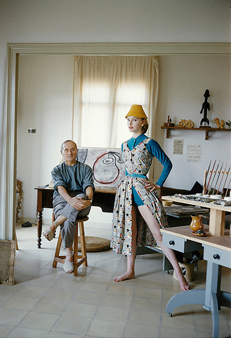 Joan Miro with Margaret Philipps x Mark Shaw