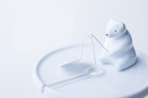 Polar Bear teabag holder