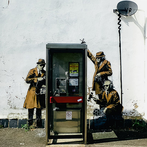 "Banksy ""Spy Booth"" house for sale"