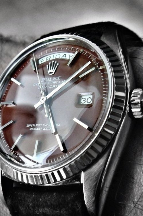 Brown Rolex Day-Date