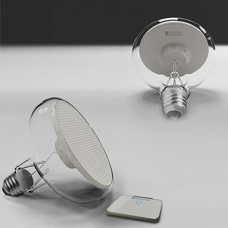 Bulb sound speaker