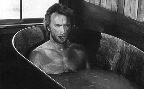 Clint Eastwood in tin bath