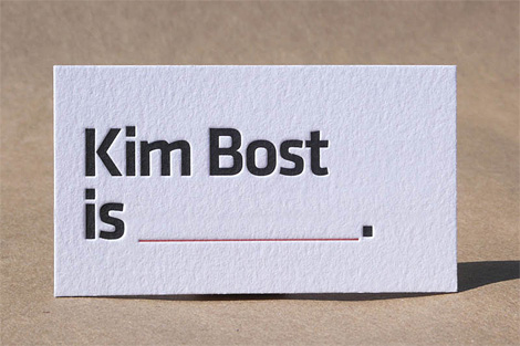 Kim Bost business card