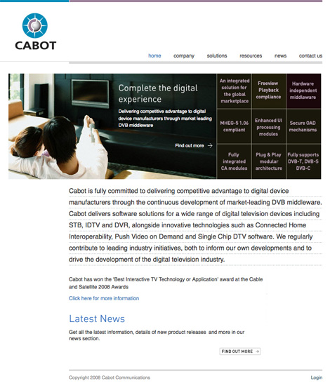 Cabot Communications website
