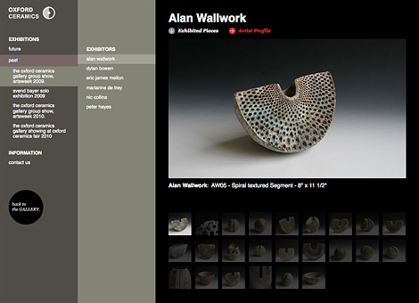 Oxford Ceramics Gallery homepage
