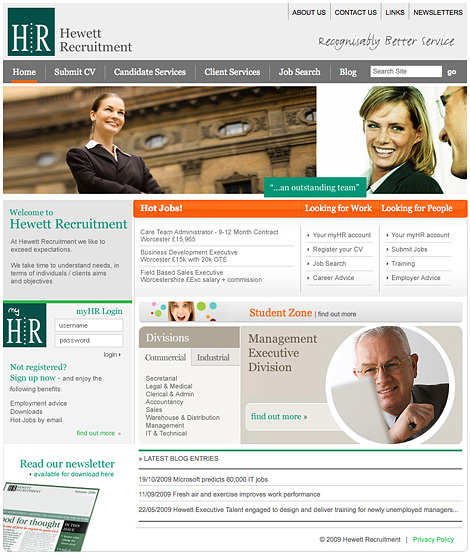 Hewett Recruitment website
