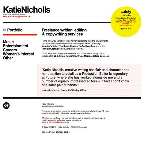 Katie Nicholls website