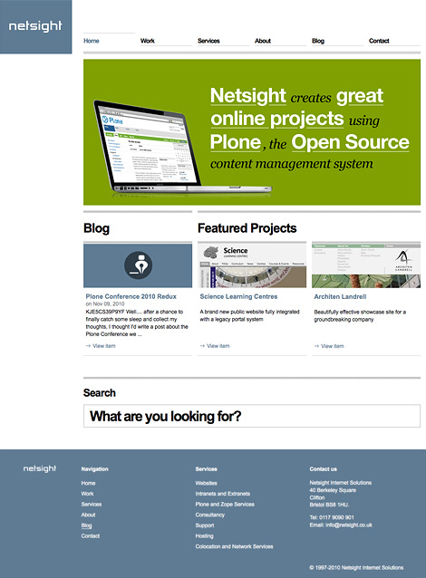 Netsight website