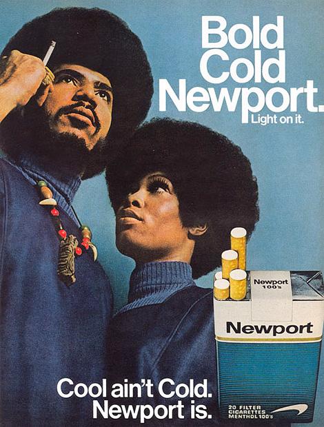 Vintage Newport cigarettes ad
