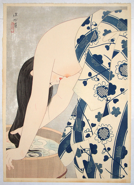 Itō Shinsui: Washing The Hair